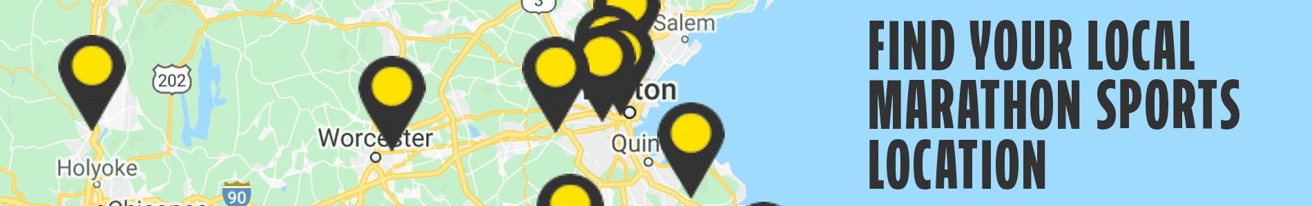 Marathon Sports has 11 locations throughout Massachusetts