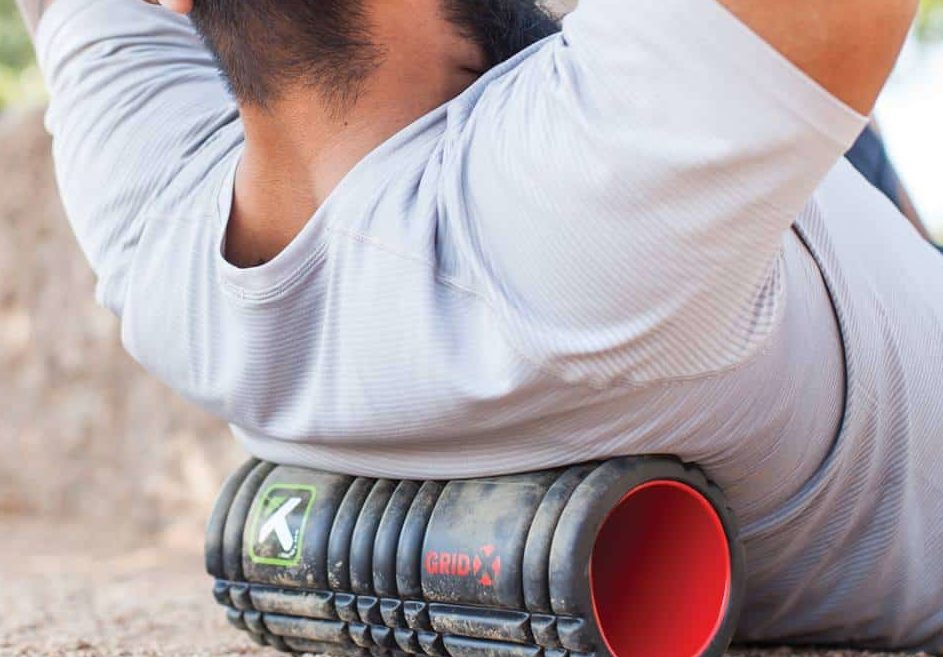 Foam Rolling the back